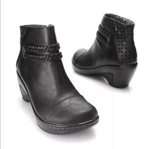 Jambu Cabernet Leather Ankle Boots Memory Foam